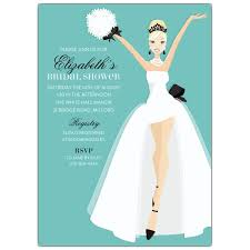 Here Comes The Bride Blonde Bridal Shower Invitations