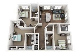 The District on Apache Floor Plans