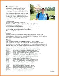 Here Are College Golf Resume Template