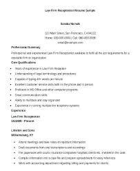 Sample Receptionist Resume Skills Medical