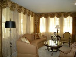 Living Room Curtain Ideas For Bay Windows by Marvelous Bay Window Decorations With Idyllic Curtains Garnish And
