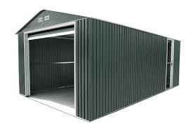 Metal Storage Shed Doors by Duramax 12x26 Metal Garage With Roll Up Door Gray 55151 Free