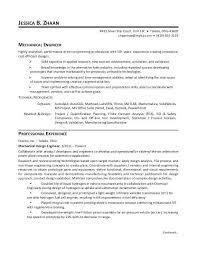 Sample Resume For Experienced Mechanical Engineer India