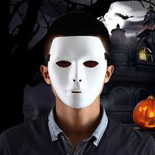 Halloween Purge 2 Mask by Thick Blank Male The Phantom Mask Costume White Face Mask