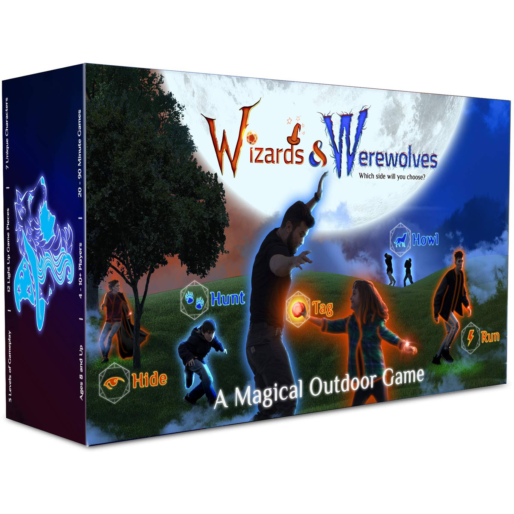 Starlux Games Wizards & Werewolves: An Active Outdoor Group Game with Hide and Seek, Tag and Glow-In-The-Dark Elements - Perfect for RPG, DND, LARP