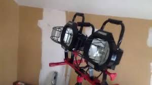 husky 1400 watt halogen tripod work light review