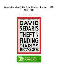 Theft By Finding Diaries 19772002 PDF For Download This Book Click Button Below