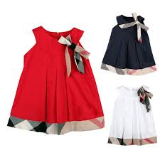 Hot Sale 2016 Baby Girl Sleeveless Cotton Dresses Spliced Design Kids Summer Dress England Style Clothes