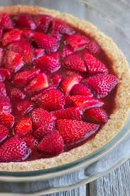 No Bake Strawberry Pie in a Toasted Almond Crust A deliciously light dessert that s
