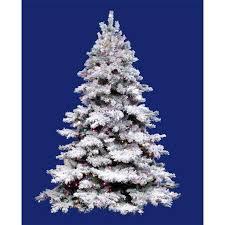 75 Pre Lit Flocked Alaskan Artificial Christmas Tree