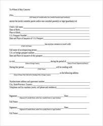 Free Child Travel Consent Form Template
