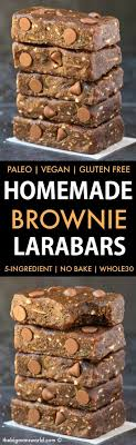 Homemade No Bake Brownie Larabars Paleo Vegan Whole30 Refined Sugar Free Copycat Recipe For 5 Ingredients Minutes And