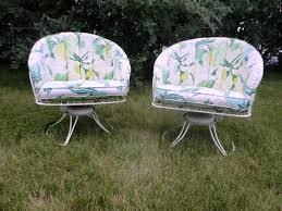 Homecrest Patio Furniture Dealers by 2 Mid Century Modern Homecrest Vintage Lawn Patio Wire Metal