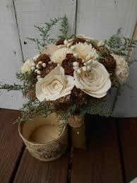 Winter Wedding Bouquet Rustic Bridal Sola Bridesmaid Country