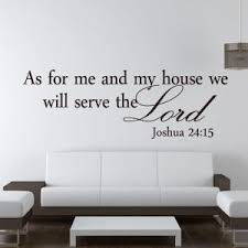 Religious Wall Quote Letters As For Me And My House We Will Serve The Lord DIY Art Carved Sticker Home Decor