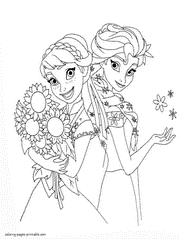 Anna And Elsa Coloring Pages