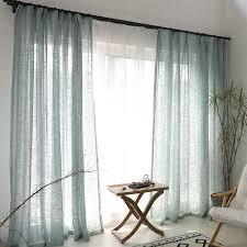 minimalismus gardine blau unifarbe im wohnzimmer blau