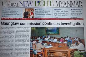 The Front Page Of Myanmars State Run Newspaper On 9 February 2017 Carried Two Articles