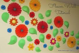 Spring Wall Decorating Ideas Flower And Paper Pinwheel Tutorial Trends