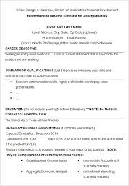 Cv For College Student Graduate Resume Examples On Example Resumes Templates