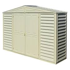 Home Depot Storage Sheds Plastic by Duramax Building Products Sidepro 10 5 Ft X 3 Ft Vinyl Shed
