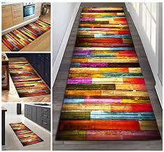 filjr teppich läufer flur bunt rutschfest lang 80x300cm vintage for küche schlafzimmer wohnzimmer tqdtx polyester verblassen nicht anpassbar color