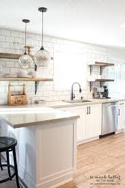 Rustic Industrial Kitchen Shelves