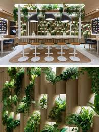 100 Bamboo Walls Ideas The Cardboard Bamboo Walls In This Modern Restaurant Have
