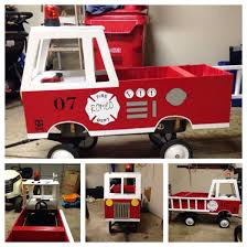 Converted Wagon Into Fire Engine For Halloween. Plywood Shell Goes ...