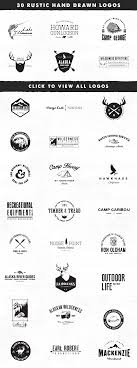 30 Rustic Vintage Hand Drawn Logo Templates For Branding Design