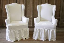 Pair Of Modern White Linen Slip Covered Wingback Chairs With Ruffle ... Chair Covers And Sashes Blue French Slipcovers Cedar Hill Farmhouse Ding Room Also Chair Ottoman Slipcovers Spandex Stretch Elastic Cloth Ruffled Washable White Oversized Best Home Decoration Country Linen Seat Cover With Ruffle Decor Slipcover For Parson Chairs Create Awesome Junk Chic Cottage Happy Sundayahaaa This Is Exactly The Slip By Paulaanderika On Etsy 9000 100 Ruched Fashion Embossed Spandex Ruffled Covers Buckle Wedding