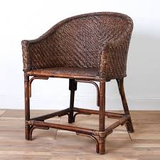 Dining Chair   Necker Rattan Dining Chair Set Of Six Leatherbound Rattan Ding Chairs By Mcguire Eight Brge Mogsen For Sale At 1stdibs Vintage Bentwood Of 3 Stol Kamnik Cane And Rattan Fniture Five Shop Provence Oh0589 Outdoor Patio Wicker With Arms Teva Bora 2 Verona Pair Garden Fniture Brown Muestra Natural Teak Wood Woven Chair Zin Home Hospality Kenya Mcombo Poolside Cversation C Capris And Ottomans Sc753 Weathered Gray