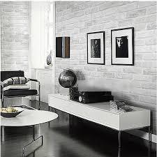 vintage geprägte mauer moderne grau weiß 3d effekt ziegel tapete für wand wohnzimmer hintergrund abdeckt wp16005