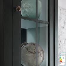 landhaus esszimmer vitrine athen 61 in edlem grün inkl beleuchtung b h t 50 197 43 cm