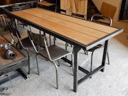 table de cuisine ancienne en bois ancienne table militaire fer et bois geonancy design