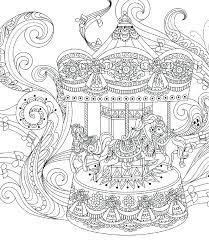 Carousel Coloring Page Mat Y Park Young Mi Adult Pages