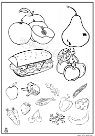 Fruit Vegetable Coloring Pages