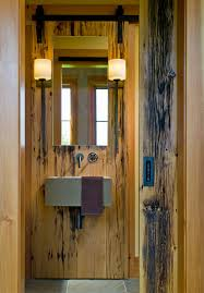 Rustic Barn Bathroom Lights by Modern Wall Sconces Powder Room Traditional With Bathroom Faucets