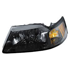 mustang headlight assembly smoked driver side 1999 2004