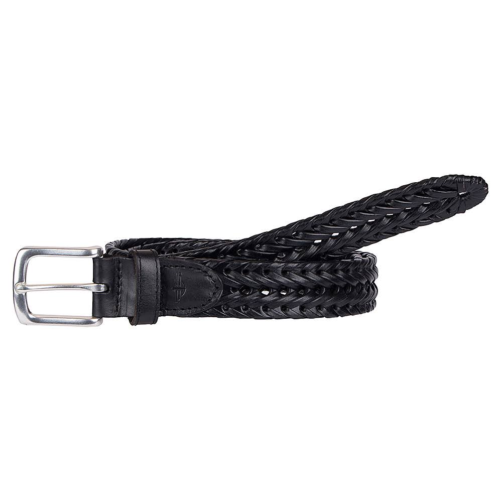 Dockers Leather Braided Men's Belt, Black, Size 38