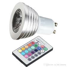 best color changing rgb led flash spot light 3w gu10 bulb with 24