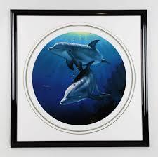 100 Christian Lassen Artist Riese Signed 3535 Dolphin Art Display