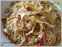 cuisine asiatique vapeur nouilles chinoises diététiques au poulet et crevettes ou du bon