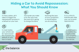 100 Repossessed Trucks For Sale What To Know About Hiding A Car To Avoid Repossession