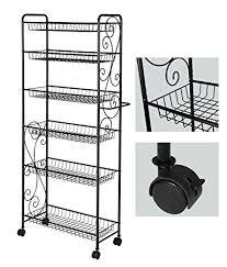 amazon com hlc 6 tier freestanding metal bathroom kitchen storage