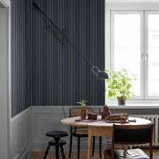 tapete stockholm stripe silber auf blau türkis