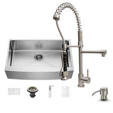 Ipt Stainless Steel Sinks by Vigo Kitchen Sinks Kitchen The Home Depot