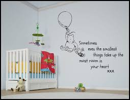 Winnie The Pooh Nursery Decorations by Winnie The Pooh Wall Decals Home Decorations Ideas