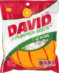 Hulled Pumpkin Seeds Calories by David Roasted U0026 Salted Pumpkin Seeds 5 Oz Walmart Com
