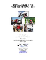 100 North American Trucking ATRI 2014 TII Cover Transportation Research Institute